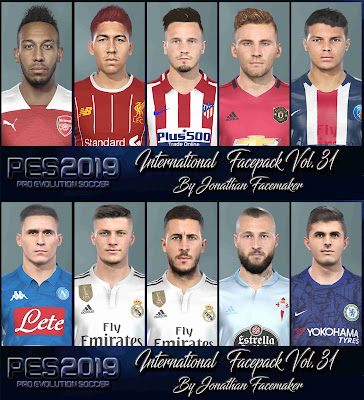 PES 2019 Facepack International Vol 31 by Jonathan Facemaker