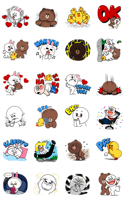 LINE Characters: High Voltage