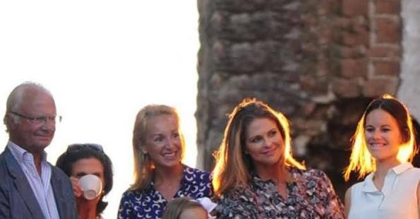 King Carl Gustaf, Queen Silvia, Princess Madeleine, Prince Carl Philip, Princess Sofia Hellqvist of Sweden and Prince Nicolas