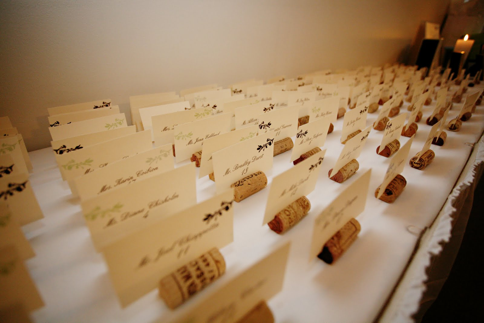 The Savvy Diy Bride Wine Cork Place Card Holders
