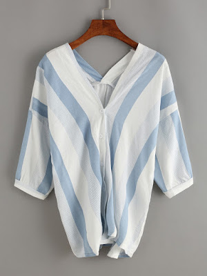 http://es.shein.com/Vertical-Striped-Double-V-Neck-Blouse-p-276900-cat-1733.html?aff_id=4665
