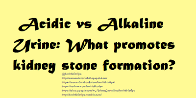 Acidic vs Alkaline Urine: What promotes kidney stone formation?