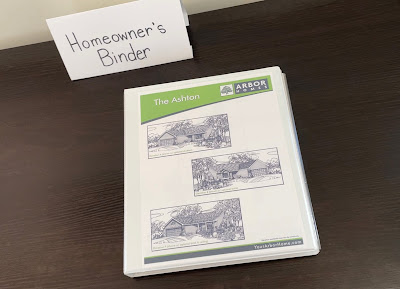 selling house with home owner binder during showing