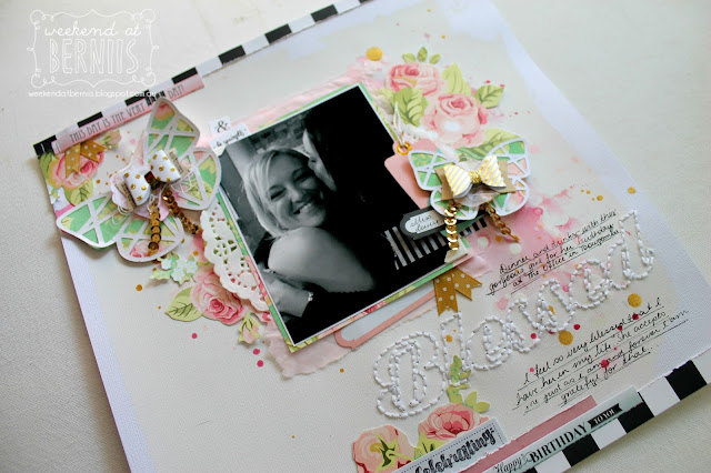 """Blessed"" layout by Bernii Miller for Sugar Maple Paper Co using the Cake for Breakfast kit."