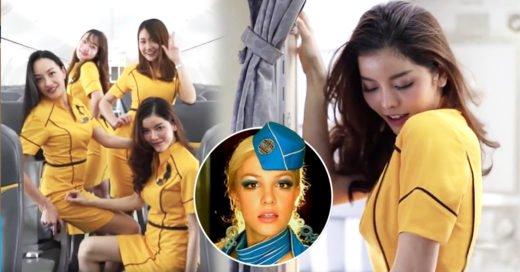 Sexys azafatas en Tailandia reviven Toxic de Britney Spears