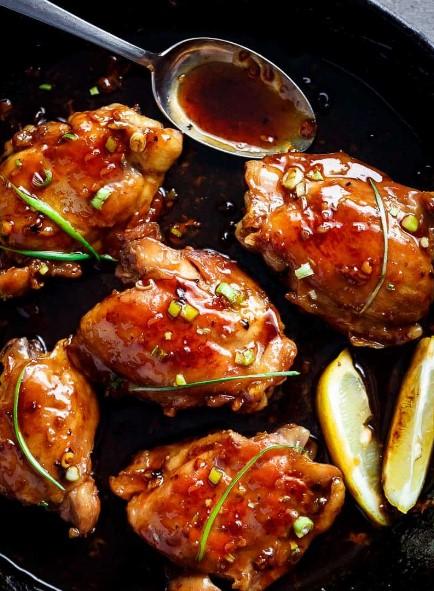 Garlic Teriyaki ChickenThighs