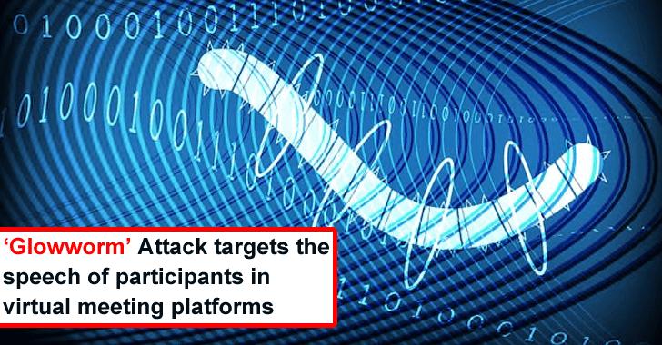 'Glowworm' Attack Spy Conversations of Participants in Virtual Meeting Platforms