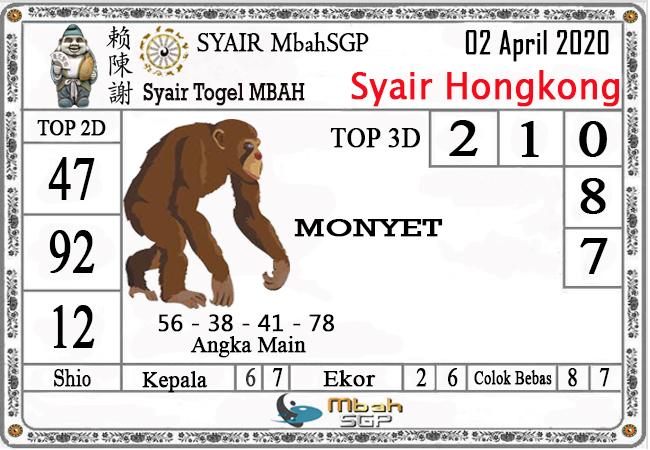 Prediksi HK Malam Ini Kamis 02 April 2020 - Syair Mbah HK