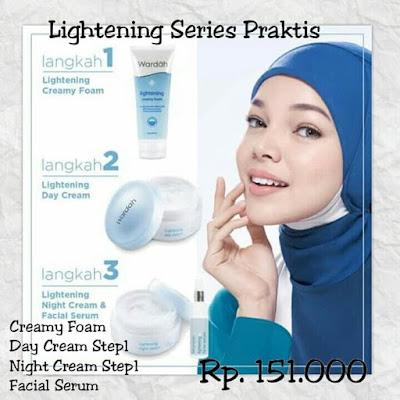 Paket Kosmetik Wardah Lightening Series 3 Langkah Mudah Cantikmu | Metro
