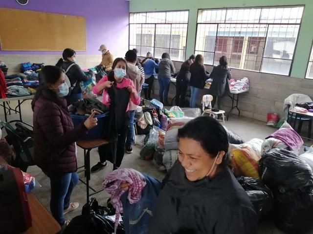 Donacion de vestuario huracan eta