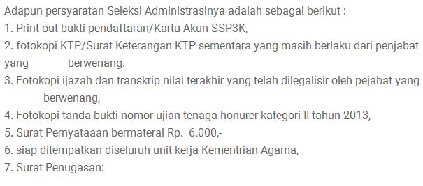 Syarat Seleksi Administrasi PPPK Tahun 2019