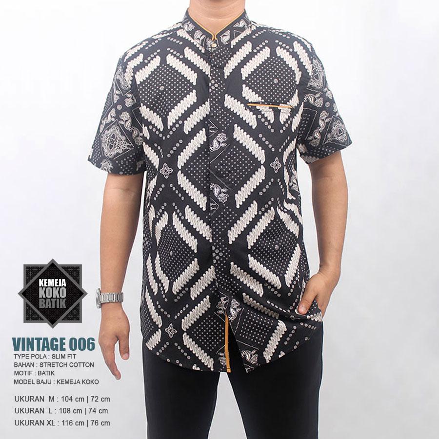 Grosir Baju Koko Harga Distributor Pasar Tanah Abang Busana Batik Grey M Kemeja 006