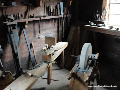 tools inside Rotchev House at Fort Ross State Historic Park in Jenner, California