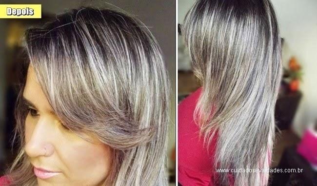 cabelos loiros acinzentados
