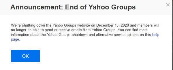 pesan penutupan yahoo groups