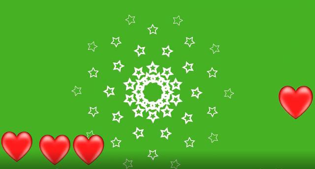 كروما نجوم على شكل قلوب متحركة