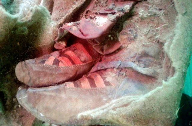 1, 500 Years Old Mummy Was Discovered To Be Wearing A Pair Of Adidas Boots! Is This A Proof That Time Traveling Is Possible?