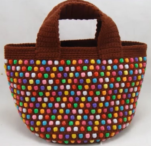Crochet Tote with Pony Beads - Tutorial
