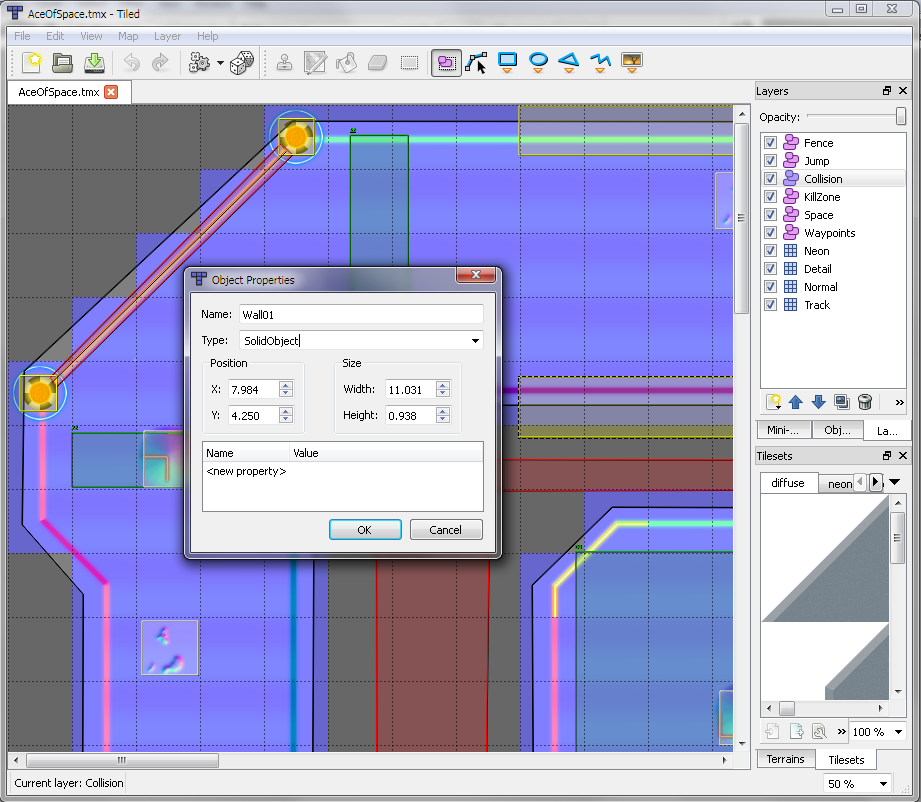 Tile Object Editor Note Layers On The Right