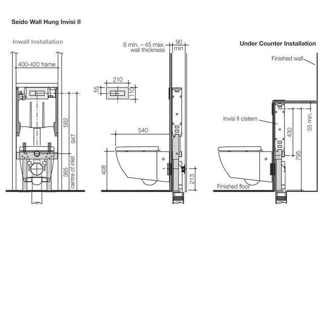 Modecor Toilet Suites: Fowler Seido Icon Series II Wall