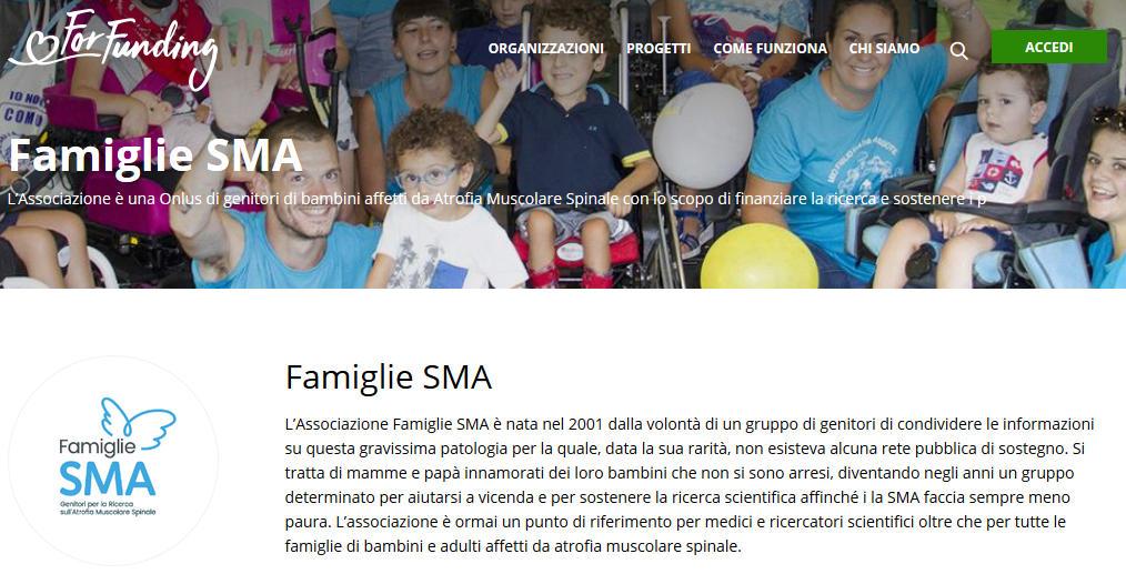 Un Crowdfunding nazionale per l'Atrofia Muscolare Spinale