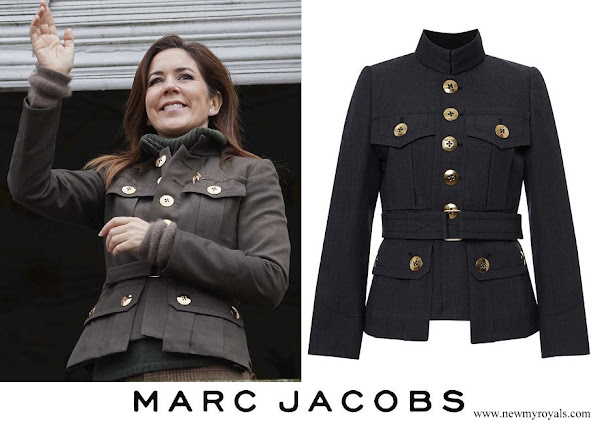 Crown Princess Mary wore Marc Jacobs Wool Melange Military Jacket