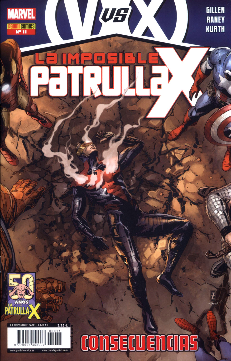 La imposible Patrulla X 11 - (AvX Consequences 1- 2 USA)
