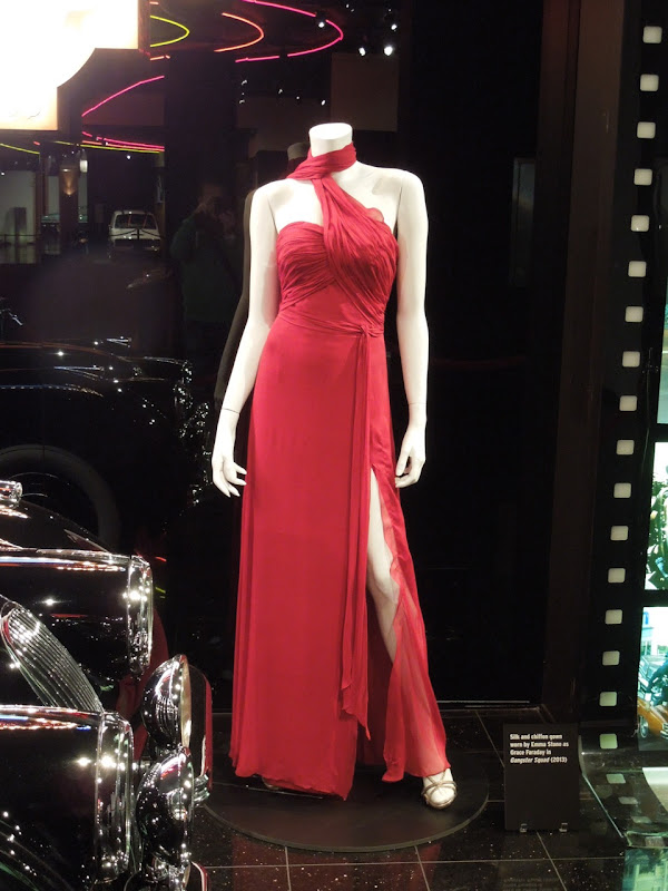Emma Stone Grace Faraday movie gown Gangster Squad