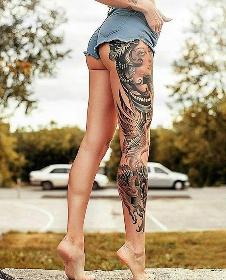25 Attractive Leg Tattoos For Women