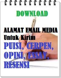 alamat email untuk kirim cerpen puisi opini ke koran