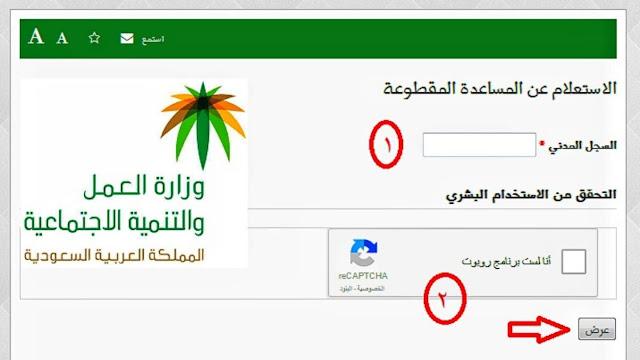 كيف أتقدم للحصول على منحة مقطوعة الضمان الإجتماعي ~ شروط التسجيل فيالمساعدة المقطوعة برقم الطلب