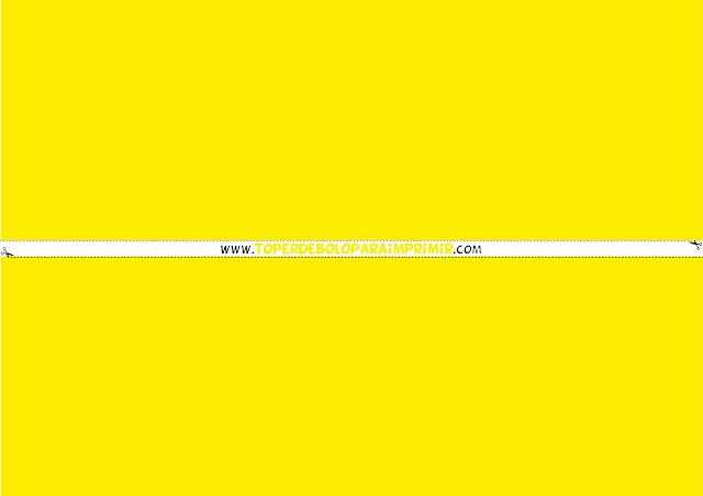 faixa lateral amarelo para imprimir