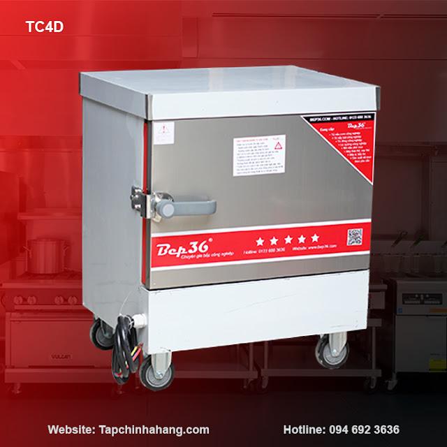 Tủ nấu cơm 4 khay sử dụng điện TCD4