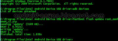 Cara Root Asus Zenfone 4 dengan CMD