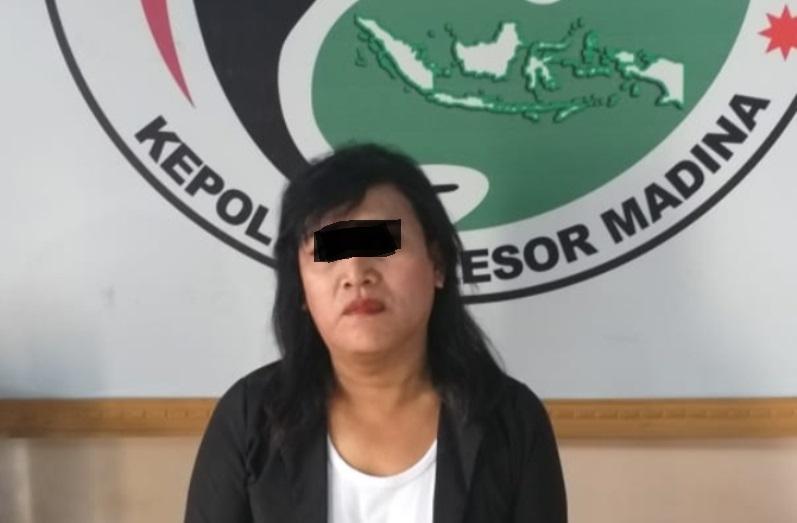 """Tersandung Kasus Narkoba Jenis Sabu """"Cici"""" Mendekam Di Polres Madina"""