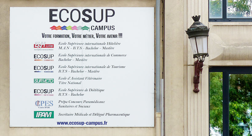 ECOSUP Campus Tourcoing - Panneau Place Roussel