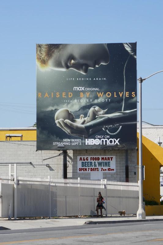 Raised by Wolves TV series billboard