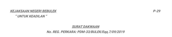 contoh surat dakwaan subsidair/ berlapis