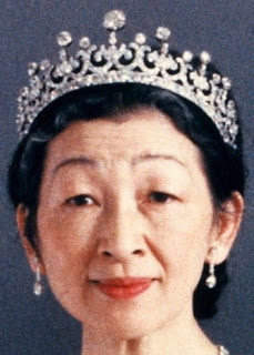 meiji scroll tiara diamond japan empress shoken michiko