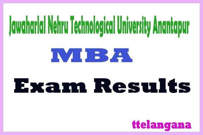 Jawaharlal Nehru Technological University Anantapur MBA Supply Exam Results