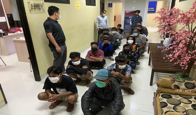Polres Serang Berhasil Amankan 17 Orang yang Diduga Preman dan Pelaku Pungli