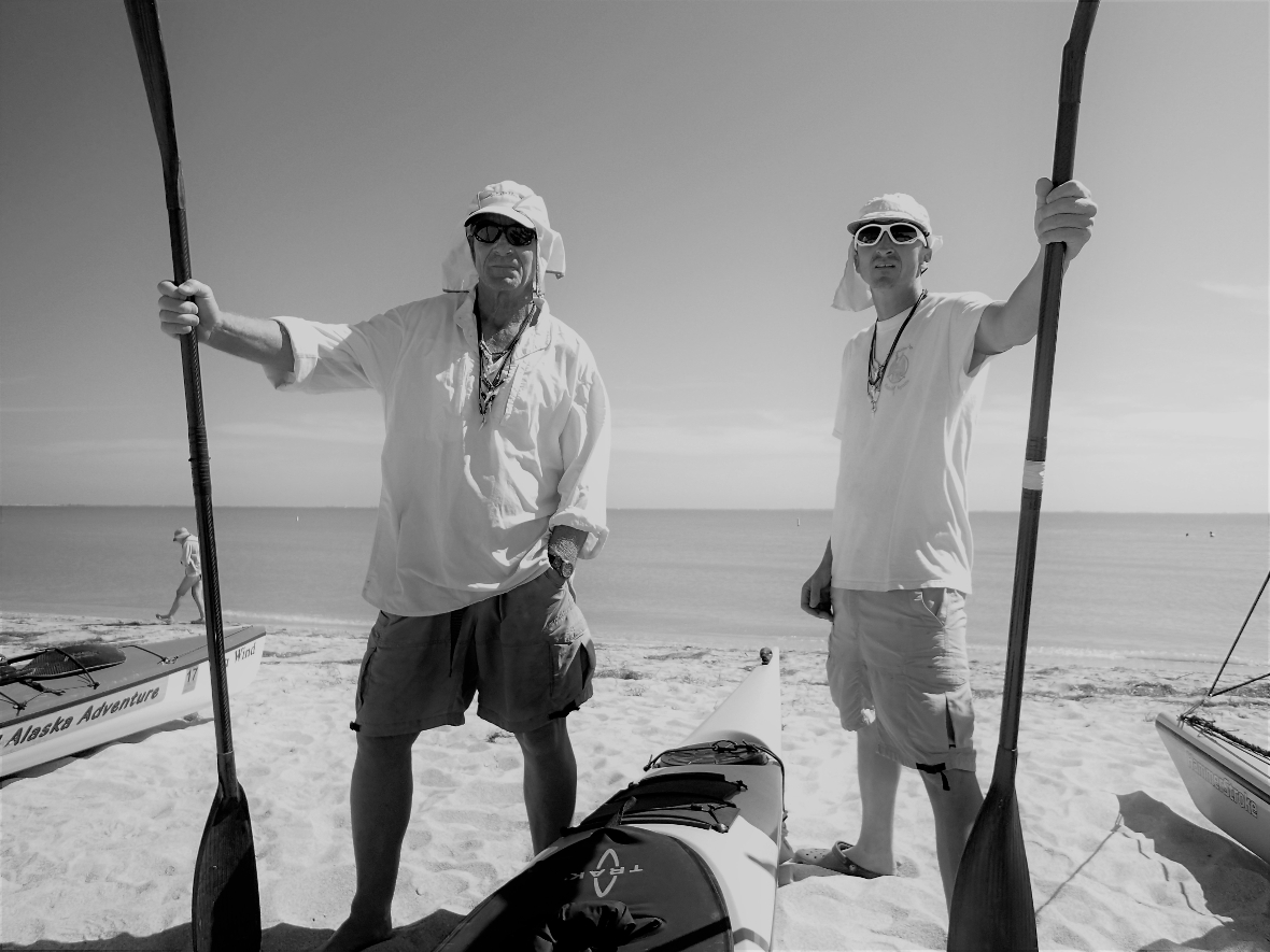 Druce and I the day before the race on the start beach, Everglades Challenge 2016