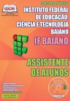 Apostila Instituto Federal Baiano - Assistente de Alunos - IFBaiano edital 2015