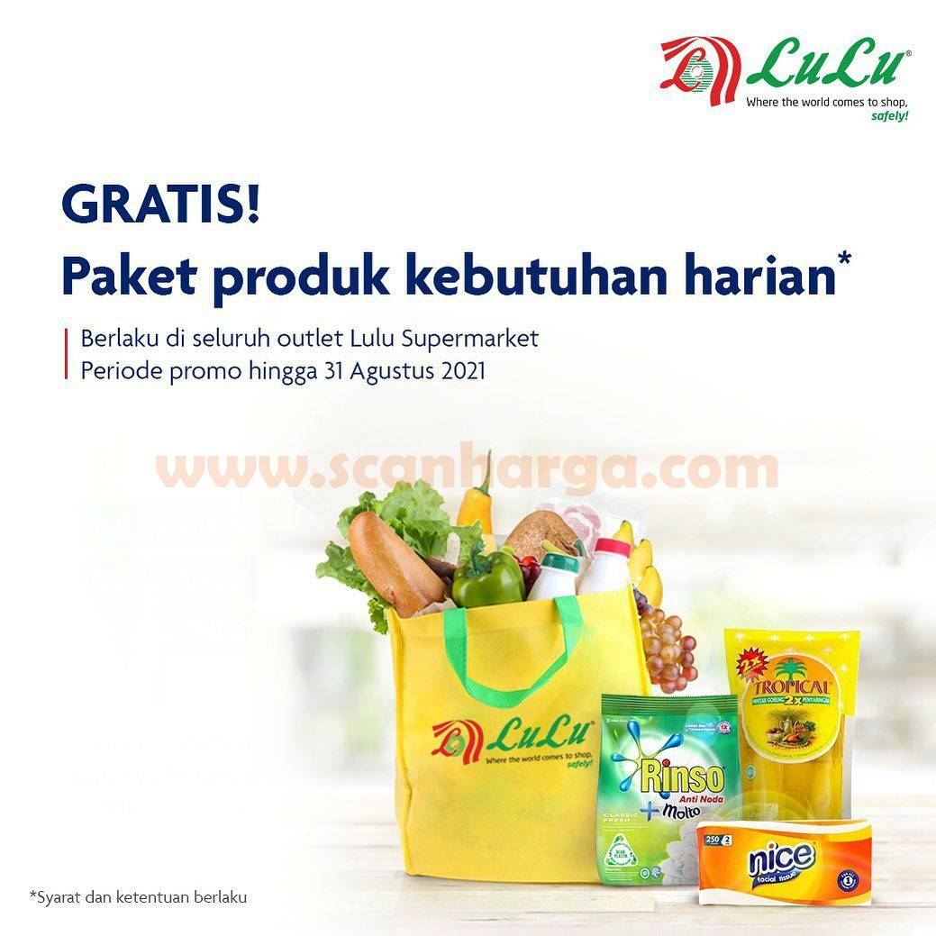 Promo LULU Supermarket Gratis Paket Produk Kebutuhan Harian dengan Kartu Kredit UOB