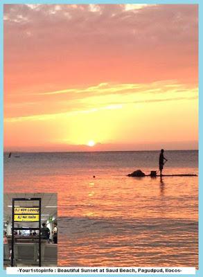 Your1stopinfo: Beautiful sunset at Saud Beach, Pagudpud, Ilocos