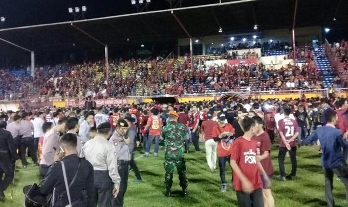 Laga PSM Vs Bali United Berakhir Ricuh