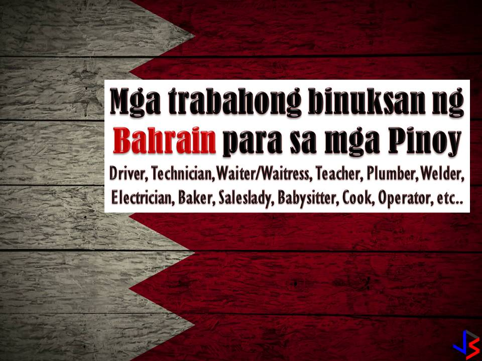 Looking for jobs abroad? Or an Overseas Filipino Workers (OFW) who wants to change career in another country? Bahrain is waiting for you! The country is hiring Filipino workers to fill in the demand in their local employment. Hundreds of jobs are waiting for Filipinos including for Filipino maids or household service workers.