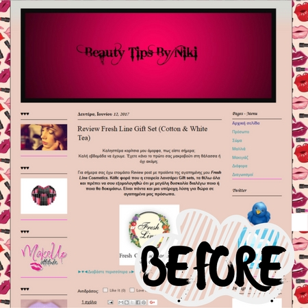 Νέα σχεδίαση blog: Beauty Tips by Niki