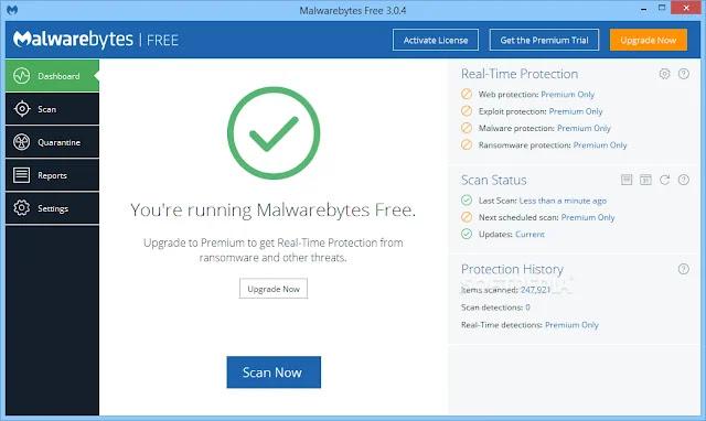 تحميل برنامج Malwarebytes Anti-Malware 2020 مجانا للحماية من الفيروسات
