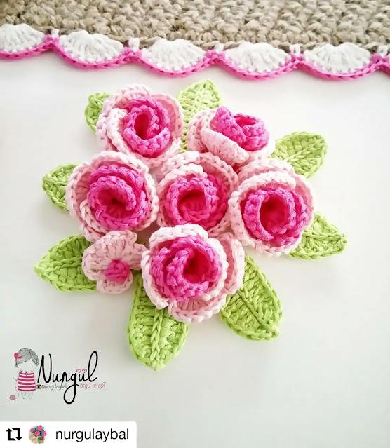 Ideas y Tutoriales de Flores a Crochet